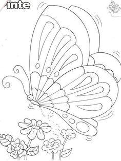 Pintura em tecido ,Pintura em tela, Riscos e desenhos para pintar e artesanatos: RISCOS BORBOLETAS