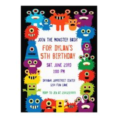78 Desirable Cute Monster Birthday Party Invitations Images Kid