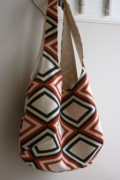 Reversible bag- chevron print