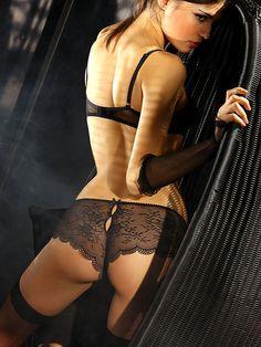 Sexy Black Lace Peek-A-Boo Shorts