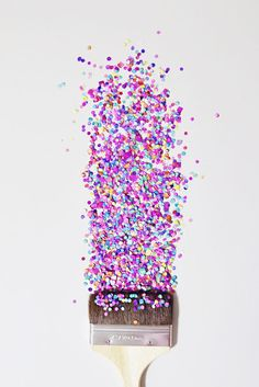 painting with confetti