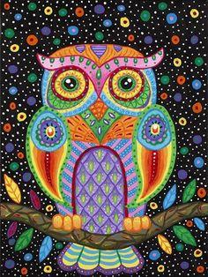 NEW moneyDIY Diamond Painting Animal Cute Owl round Mosaic Cross Stitch Diamont Embroidery Crsfts Wall Sticker Decoration Mandala Art, Owl Art, Bird Art, Doodle Art, Owl Mosaic, Dot Painting, Whimsical Art, Art Plastique, Art Projects