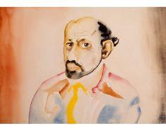Allen Ginsberg  1982-1987  Watercolor on paper  14 x 20 in  36.2 x 50.8 cm