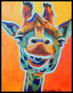Check out this item in my Etsy shop https://www.etsy.com/listing/242394925/pop-art-giraffe-original-hand-painted