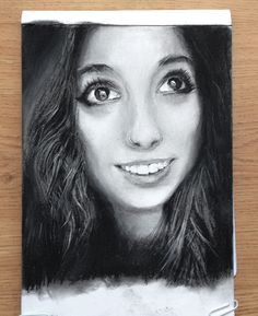 "www.DrawingStrangers.com Kayla Oahu, Hawaii ""I was born and raised here, although I am white, Hawaii is my home. But most locals think of me as an outsider because of my skin color."" Artist: Helen Rebekah Medium: Charcoal Instagram: @helsartpage Facebook: Helsartpage"