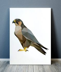 Beautiful Polygonal art for your home and office. Geometric Poster, Geometric Art, Animal Drawings, Art Drawings, Polygon Art, Bird Poster, Bird Prints, Art Plastique, Painting & Drawing