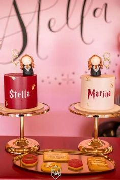 Take a look at this amazing pink Harry Potter birthday party! Love the birthday cakes! See more party ideas and share yours at CatchMyParty.com