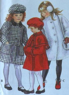 Toddler Coat Sewing Pattern UNCUT Simplicity 8715 Sizes 2-4