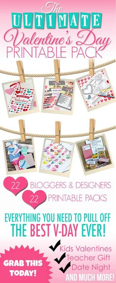 Valentines Day Printable Pack - Somewhat Simple