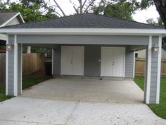 Remodel Houston - Carport with Locking Storage Serves as Covered Patio At ReCraft, we often hear people wanting more garage space. This innovative use of