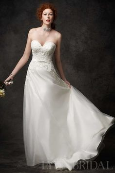 A Line Sweetheart Lace Bodice Tulle Destination Wedding Dress $374.99 2015 Spring