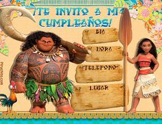 Invitaciones de cumpleaños Vaiana gratis