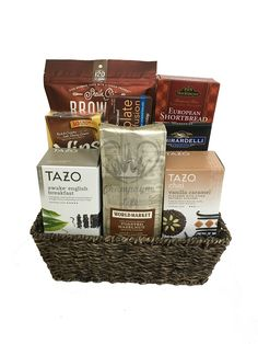 The gluten free gourmet snacks gift basket is available for same day coffee and tea gift basket negle Choice Image