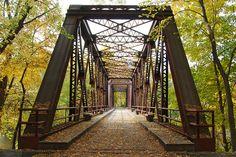 Wallkill Valley Railroad Bridge in the fall, near New Paltz, NY