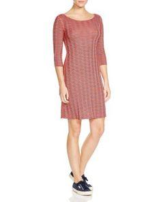 THREE DOTS British Chevron Stripe Dress. #threedots #cloth #dress