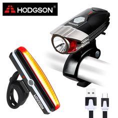 HODGSON USB Rechargeable LED Bike Light  Waterproof  Front Light  Tail Light Set  Bicycle Headlight Taillight Rear Lamp Set 8102 // FREE Worldwide Shipping! //     #hashtag4