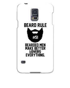 Beard Rules - Samsung Galaxy S5 Case Galaxy S5 Case, Samsung Galaxy S5, Beard Art, Beard Rules, Cool Things To Make, How To Make, Beard Grooming, Bearded Men, Beards