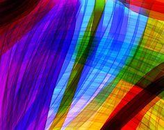 Stained glass rainbow digital art...looks like fabric to me!