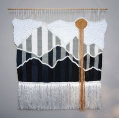 Geometric Mountains Weaving by Willow Brooke Design