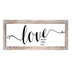 Stratton Home Decor Love Framed Textual Art