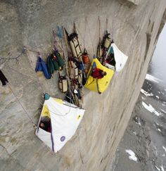 What a life, Extreme Cliff Camping.