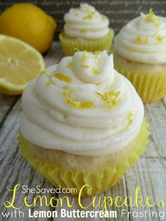 This Lemon Cupcake recipe is so good, especially when topped with this delicious Lemon Buttercream frosting!