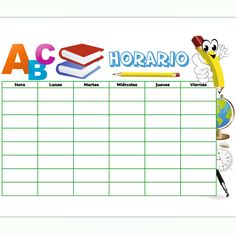 Horario para estudiantes 2 Clip Art, School Schedule, Students, Studio, Model, Pictures