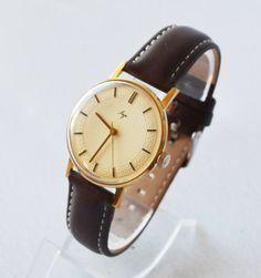Men's Deluxe Watch Vintage Collectibles 1960s USSR by bestLuba
