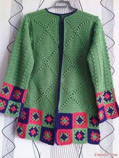 (56) Facebook Crochet Poncho Patterns, Crochet Coat, Crochet Mittens, Crochet Jacket, Crochet Cardigan, Thread Crochet, Crochet Clothes, Crochet Fashion, Beautiful Crochet