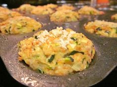Zucchini 'tots'. Tots as in they're made in a mini-muffin pan, not as in a remake of my favorite potato treat.