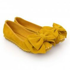 Comfortable Women's Flat Shoes With Casual Candy Color and Bowknot Design
