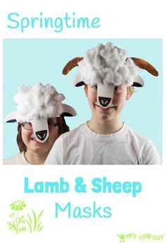 PAPER PLATE LAMB AND SHEEP MASKS - A fun animal kids craft to promote imaginative play.