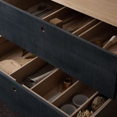 wood drawer compartments
