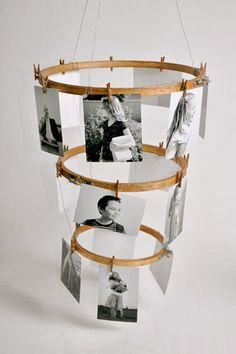 diy photo hoop display