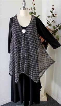 Elegant High end Plus size Lagenlook Poncho in quality Sequined Mesh Fabric…