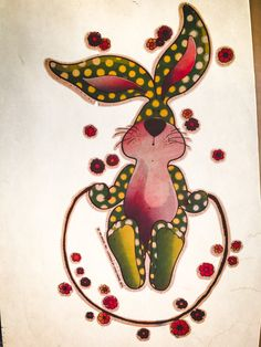 Jumping Bunny Vintage Iron On Heat Transfer by VintageIronOn on Etsy
