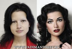 """Stellar """"Before and After"""" transformations by Russian makeup artist Vadim Andreev. The power of makeup!!!"""