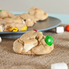 Peanut Butter M&M Marshmallow Cookies! Making these today! Snow Day!! :) I just made them, kind of hard to stick together and messy so GOOD LUCK!!