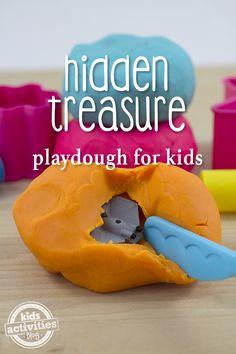 Hidden Treasure Playdough is so much fun for kids!