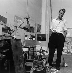 Nicolas de Stael in his studio 1954