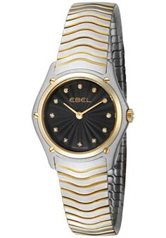 (Limited Supply) Click Image Above: Ebel 1256f24/15925 Women's Sport Classic White Diamond Two Tone Watch