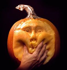 Pumpkin Carving taken to another level! Holy cow that's impressive!