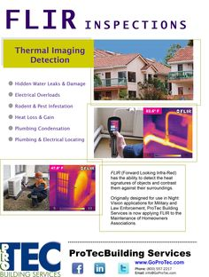 How to find water leaks, pest infestations, or locate eletrical overloads. FLIR inspections use infra-red to see through walls, concrete & plumbing!
