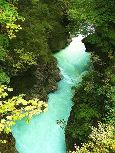 Viewed from the bridge that crosses the river Rissbach at the famous Rissbach Gorge and marks the border between Austria and Germany.