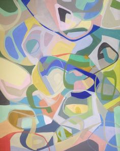Geometric painting, linear, florida artist,saatchi artist, abstract painting, modern painting, contemporary painting, blue, yellow, purple