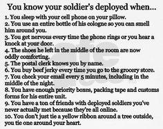 you know he's deployed when... marin, militari life, armi life, navi, soldier deploy, deploy stink, quot, shaving cream, armi wife