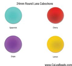 Luna Cabochons 24mm Round in 4 colors to choose from