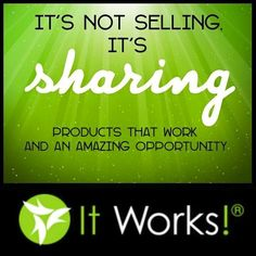 I'm not selling I'm sharing: I'm sharing how these products have worked for me and changed my life. I'm sharing how they helped friends and loved ones improve their health and lifestyle. I'm sharing so that I can help you to be successful in whatever area you are trying to improve on including those who are in need of improving their finances and want to help others along the way!