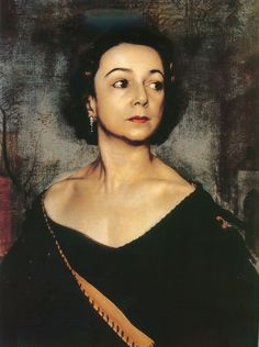 by Pietro Annigoni (Italian, 1910-1988). ..... Annigoni studied art at the Accademia di Belle Arti in Florence. He based his style on Leonardo da Vinci and Titian, working in tempera and oil to simulate old-master oils. His portraits include Juanita Forbes, Margot Fonteyn, the Duchess of Devonshire, and Queen Elizabeth II.