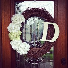 Down with the Dearmore's: {DIY monogram wreath}